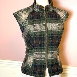 CAbi Green Tweed Vest